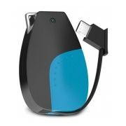 Зарядное устройство Hiper Circle, 500 мА/ч, microUSB, брелок, синий/черный