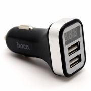 Зарядное автомобильное устройство Hoco Z3 3.1A 2xUSB, дисплей, черное