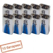 Батарейка 9V Perfeo 6LR61 Super Alkaline, щелочная, 10 шт, коробка