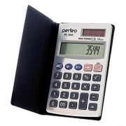 Калькулятор карманный Perfeo PF_3544, 12-разрядный, чехол, серебристый