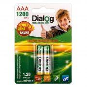 Аккумулятор AAA Dialog HR03/1200-2B 1200мА/ч Ni-Mh, 2шт, блистер