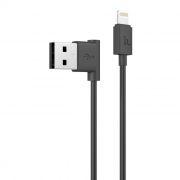 Кабель USB 2.0 Am=>Apple 8 pin Lightning, 1.2 м, угловой, черный, Hoco UPL11