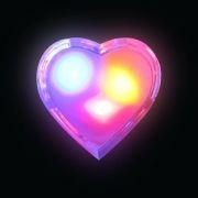 Светильник-ночник КОСМОС Lp1009 Сердечко, мультиколор, 1 LED, 220V (KOCNL_LP1009)