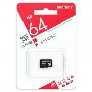 Карта памяти Micro SDXC 64Gb SmartBuy Class 10 без адаптера (SB64GBSDCL10-00LE)