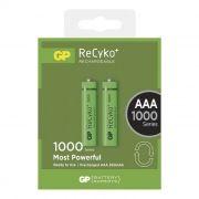 Аккумулятор AAA GP ReCyko+ HR03-2BL 1000мА/ч Ni-Mh, 2шт, блистер (GP100AAAHCE-2GBAS2)