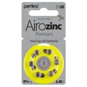 Батарейка Perfeo ZA10/6BL Airozinc Premium для слуховых аппаратов, 6 шт, блистер