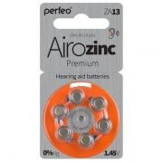 Батарейка Perfeo ZA13/6BL Airozinc Premium для слуховых аппаратов, 6 шт, блистер