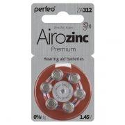 Батарейка Perfeo ZA312/6BL Airozinc Premium для слуховых аппаратов, 6 шт, блистер