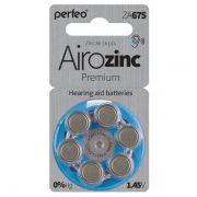 Батарейка Perfeo ZA675/6BL Airozinc Premium для слуховых аппаратов, 6 шт, блистер