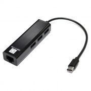 Сетевая карта USB Type C - RJ45 10/100 Мбит/с + HUB 3 порта USB 2.0, 5bites (UA3C-45-09BK)