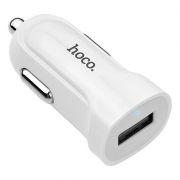 Зарядное автомобильное устройство Hoco Z2 1.5A USB, белое