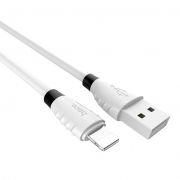 Кабель USB 2.0 Am=>Apple 8 pin Lightning, 1.2 м, белый, Hoco X27 Excellent charge