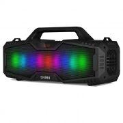 Мини аудио система SVEN PS-480, MP3, FM, Bluetooth, подсветка, черная