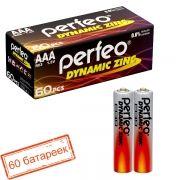 Батарейка AAA Perfeo R03/2SH Dynamic Zinc, 60 шт, коробка