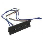 Панель фронтальная 5.25 c 2 портами USB 3.0 и 2 портами USB 2.0, Exegate U5H-614