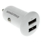 Зарядное автомобильное устройство SmartBuy TURBO, 2.4A+1A 2xUSB, белое (SBP-2025)