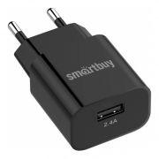 Зарядное устройство SmartBuy FLASH, 2.4A USB, черное (SBP-1025)