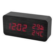 Часы будильник Perfeo WOOD