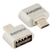 Адаптер OTG USB 2.0 Af - micro B, серебристый, REMAX RA-OTG (0L-00035188)