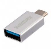Адаптер OTG USB 3.1 Type C(m) - USB 3.0 Af, серебристый, REMAX RA-OTG1 (0L-00035191)