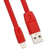 Кабель USB 2.0 Am=>Apple 8 pin Lightning, 1 м, плоский, красный, REMAX RC-001i (0L-00034488)