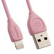Кабель USB 2.0 Am=>Apple 8 pin Lightning, 1 м, розовый, REMAX RC-050i (0L-00035745)