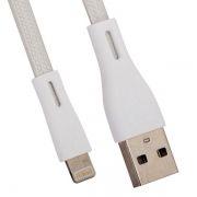 Кабель USB 2.0 Am=>Apple 8 pin Lightning, плоский, 1 м, серебристый, REMAX RC-090i (0L-00036772)