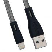 Кабель USB 2.0 Am=>Apple 8 pin Lightning, плоский, 1 м, черный, REMAX RC-090i (0L-00036770)