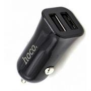 Зарядное автомобильное устройство Hoco Z12 2.4A 2xUSB, черное