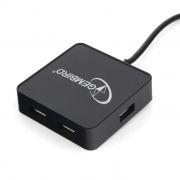 HUB 4-port Gembird UHB-242, черный, USB 2.0