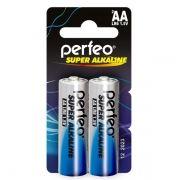 Батарейка AA Perfeo LR6/2BL Super Alkaline, 2шт, мини блистер
