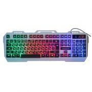 Клавиатура игровая Nakatomi KG-35U USB, подсветка, серебристая