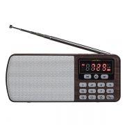 Мини аудио система Perfeo ЕГЕРЬ, MP3, FM, коричневая (i120-BK) (PF_A4463)