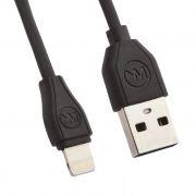 Кабель USB 2.0 Am=>Apple 8 pin Lightning, 1 м, черный, WK RC-050i (0L-00034820)