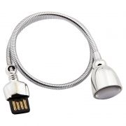 USB Лампа Remax RT-E602, гибкая ножка, серебристая (0L-00036100)