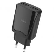 Зарядное устройство Hoco C52A 2.1А 2xUSB, черное (0L-00041125)