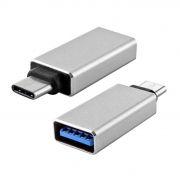 Адаптер OTG USB 3.1 Type C(m) - USB 3.0 Af, серебристый, LP (0L-00034002)