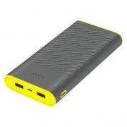 Зарядное устройство Hoco B31 Rege, 20000 мА/ч, 2xUSB, серое
