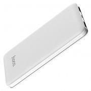 Зарядное устройство Hoco J26 Simple Energy, 10000 мА/ч Li-pol, 2xUSB, белое