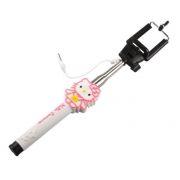 Монопод для селфи Kitty, проводной, макс. длина 110 см, розовый (0L-00000888)