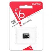 Карта памяти Micro SDHC 16Gb SmartBuy Class 10 без адаптера (SB16GBSDCL10-00LE)