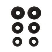 Запасные силиконовые вкладыши, 3 пары, S, M, XL ,черные (0L-00028633)
