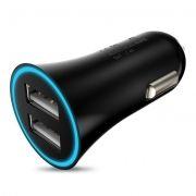 Зарядное автомобильное устройство Hoco UC204 2.4A 2xUSB, черное