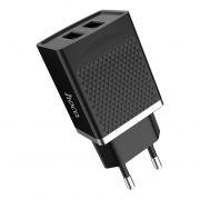 Зарядное устройство Hoco C43A 2.4А 2xUSB, черное (0L-00041043)