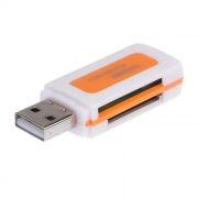 Карт-ридер внешний USB LP 532, белый/оранжевый (R0001310)
