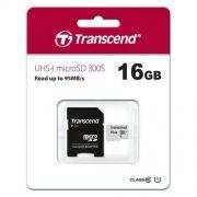 Карта памяти Micro SDHC 16Gb Transcend 300S Class 10 UHS-I U1 + адаптер SD (TS16GUSD300S-A)
