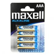 Батарейка AAA Maxell LR03/4BL, Alkaline, 4шт в блистере