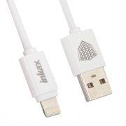 Кабель USB 2.0 Am=>Apple 8 pin Lightning, 1 м, белый, Inkax CK-51 (0L-00038518)