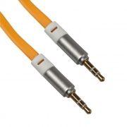 Кабель аудио 3.5 stereo plug -> 3.5 stereo plug, 1 м, плоский, желтый, коробка, LP (0L-00001110)