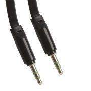 Кабель аудио 3.5 stereo plug -> 3.5 stereo plug, 1 м, плоский, черный, европакет, LP (0L-00030059)